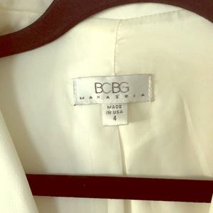 BCBG MAXAZRIA Winter White Blazer